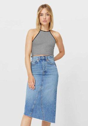 VINTAGE - A-line skirt - light blue