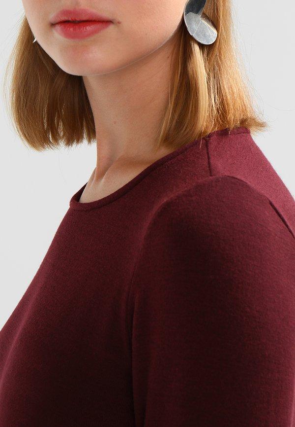 ONLY ONLSONJA MIDA WRAP - Bluzka z długim rękawem - port royale Kolor jednolity Odzież Damska VBVT LW 7