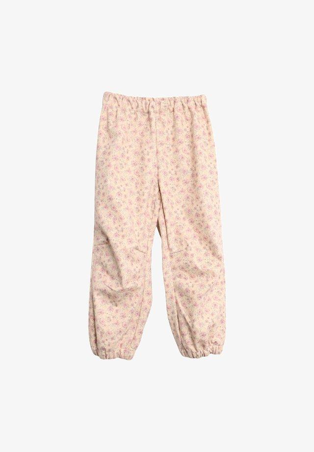 Trousers - soft beige flowers