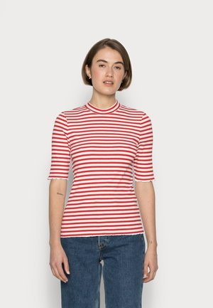 ANNA CREW NECK TEE - T-shirts med print - true red