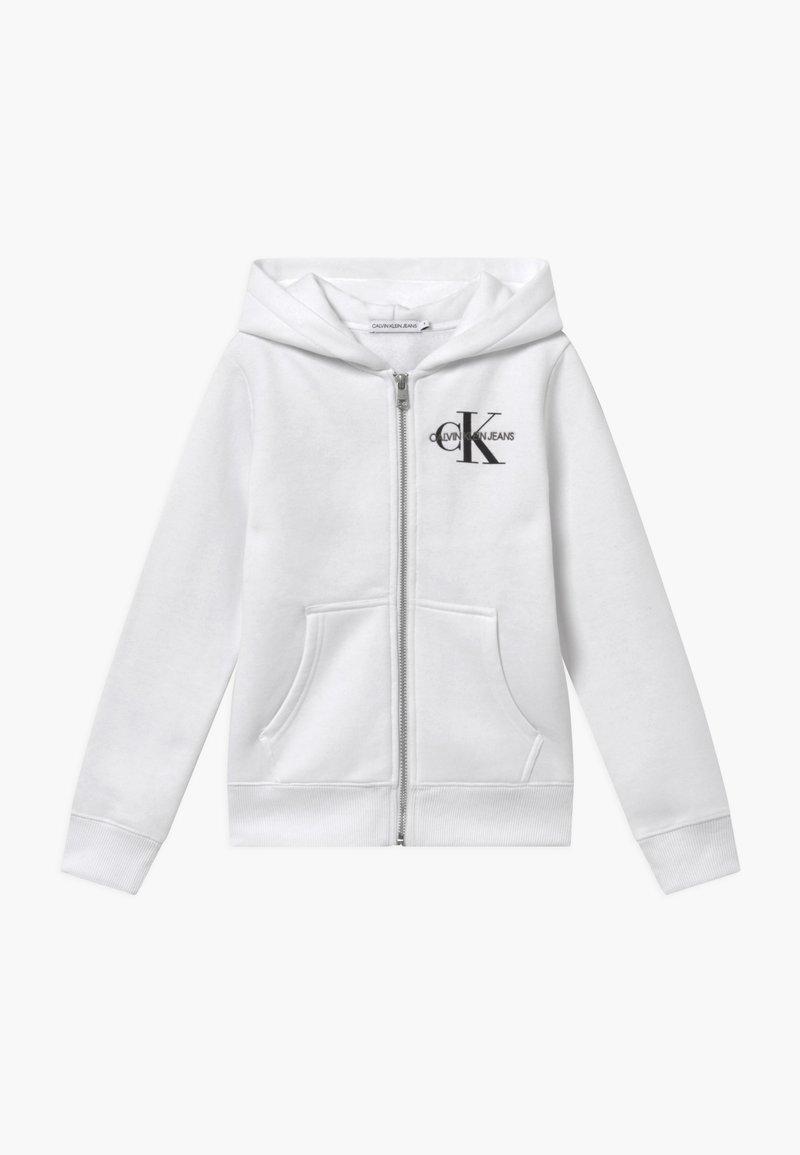 Calvin Klein Jeans - MONOGRAM CHEST ZIP HOODIE - Hoodie met rits - white