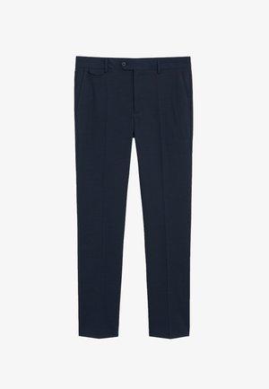 TRAVEL - Suit trousers - dunkles marineblau