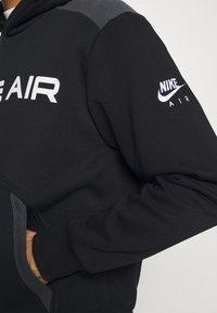 Nike Sportswear - AIR HOODIE - Jersey con capucha - black/dark smoke grey/white - 3
