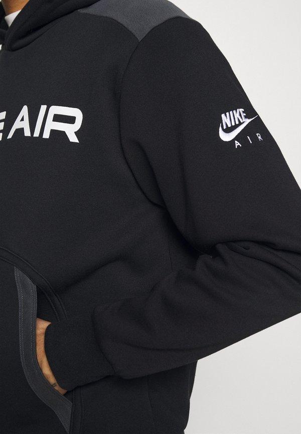 Nike Sportswear AIR HOODIE - Bluza z kapturem - black/dark smoke grey/white/czarny Odzież Męska YUPL
