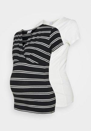 NURSING 2 PACK - T-shirt con stampa - snow white/black
