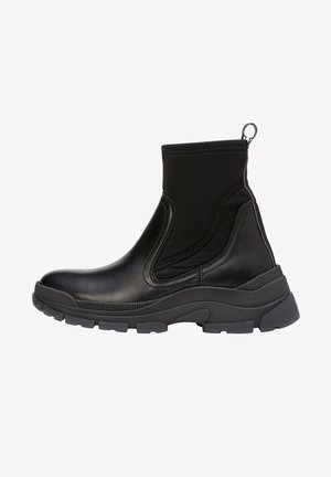 AUS RINDLEDER-NEOPREN-MIX - Ankle boots - black
