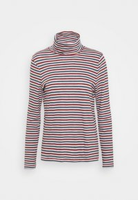 Madewell - WHISPER TURTLENECK IN GRINCH STRIPE - Long sleeved top - midnight green - 3