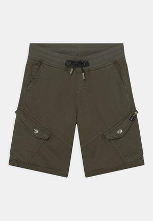 BOYS - Cargo trousers - dunkelgrün reactive