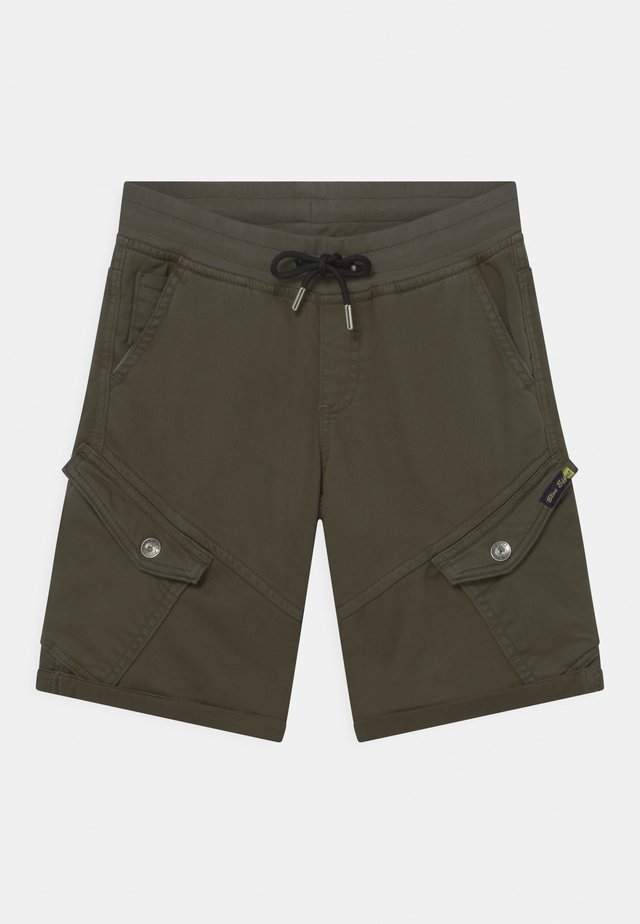 BOYS - Pantaloni cargo - dunkelgrün reactive