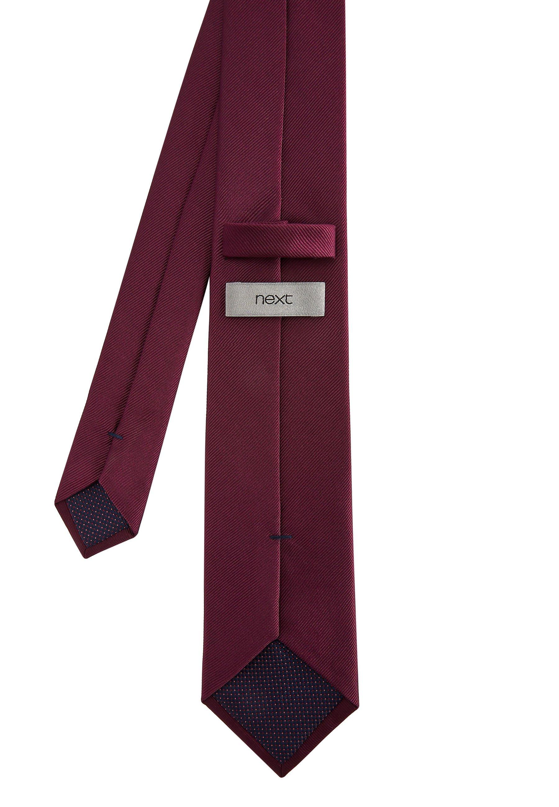 Herren BURGUNDY WIDE  - Krawatte