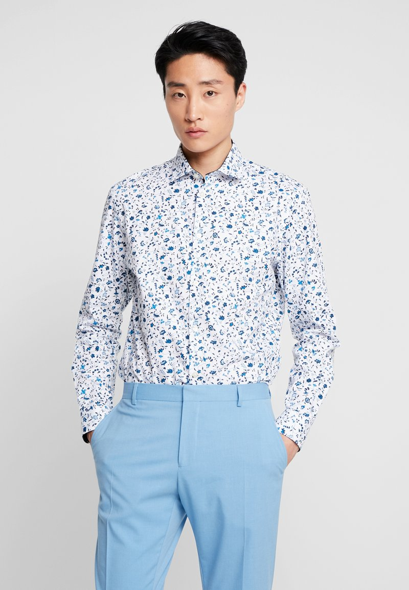 Selected Homme - SLHSLIMNEW MARK - Formal shirt - white/big blue