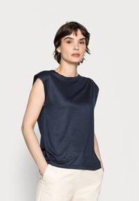 Opus - SUWANI - Basic T-shirt - mystic blue - 0