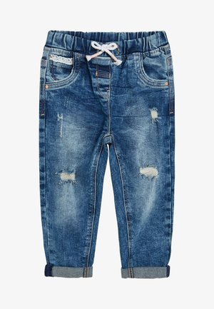 MID BLUE DISTRESSED PULL-ON JEANS (3MTHS-7YRS) - Straight leg jeans - blue