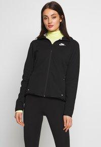 Nike Sportswear - HOODIE - Vetoketjullinen college - black/white - 0