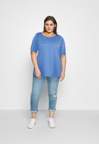 MY TRUE ME TOM TAILOR - WITH SLEEVE DETAIL - Print T-shirt - marina bay blue - 1