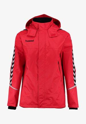 Outdoor jakke - true red/black