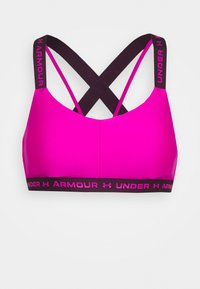 Under Armour - CROSSBACK LOW - Light support sports bra - meteor pink - 4
