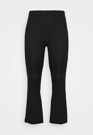 PCTOPPY FLARED PANT - Trousers - black