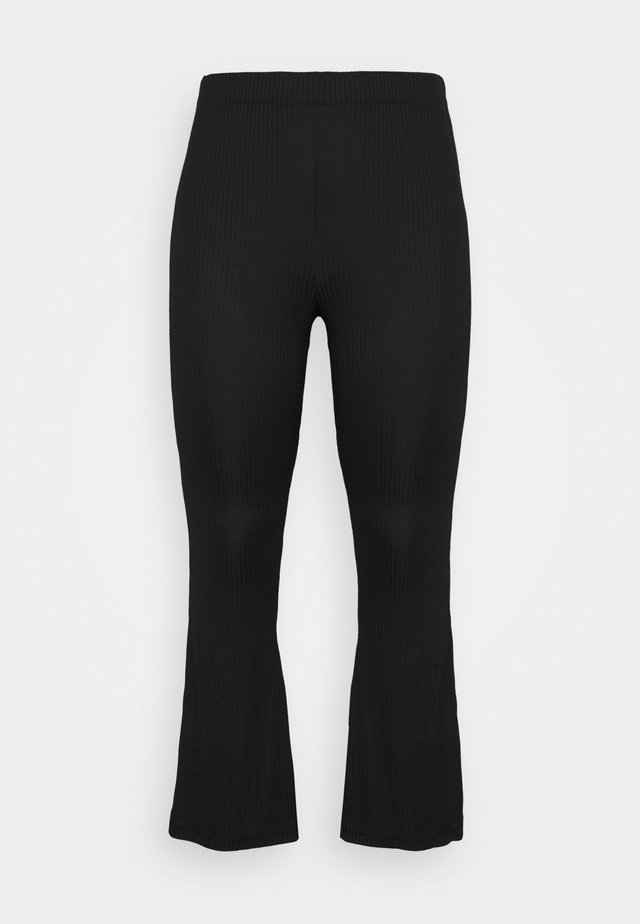 PCTOPPY FLARED PANT - Broek - black