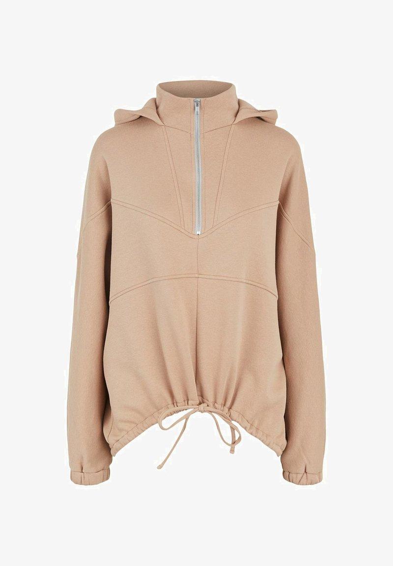 Pieces - Jersey con capucha - oxford tan