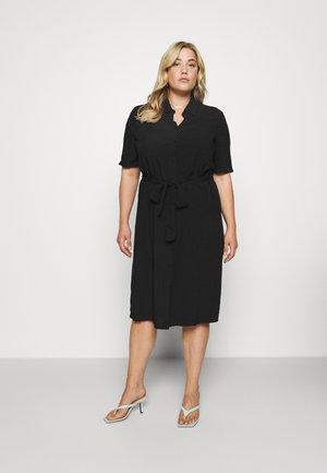 CARVISTALA SHIRT DRESS SOLID - Denní šaty - black