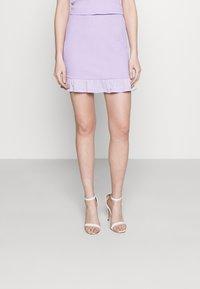 Vila - VIHAGEN SHORT FESTIVAL SKIRT - Mini skirt - lavender - 0