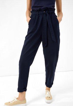 SLOUCHY - Trousers - nachtblau