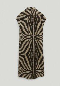 Massimo Dutti - MIT ZEBRAPRINT - Shirt dress - brown - 1