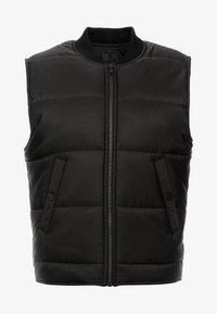 Mennace - QUILTED GILET - Waistcoat - black - 4