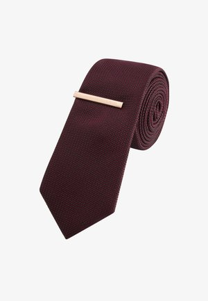 Cravatta - mottled dark red