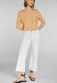Oui - Long sleeved top - white yellow/or - 1