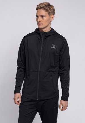 ASTON - Zip-up hoodie - black