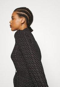 YAS - YASSAVANNA BELT ANKLE DRESS - Maxi dress - black/light taupe - 3