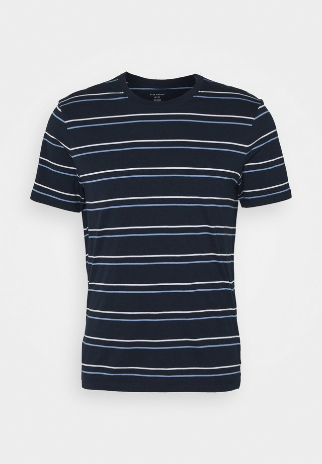 STRIPE TEE - T-Shirt print - navy multi