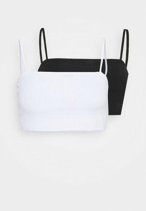 2 PACK - Top - black/white