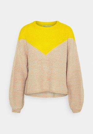 ONLSOOKIE BLOCK - Jumper - beige/yellow