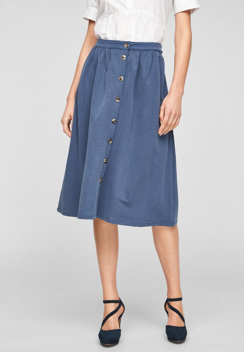 s.Oliver - A-line skirt - faded blue