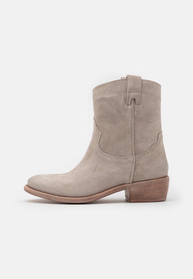 Lazamani - Cowboy/biker ankle boot - ghiaccio