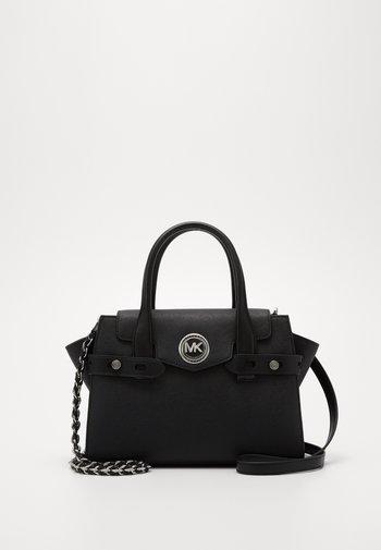 CARMENSM FLAP BELTED SATCHEL - Handbag - black