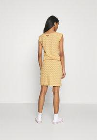 Ragwear - TAG CHEVRON - Žerzejové šaty - yellow - 2