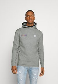 11 DEGREES - BLOCK HOODIE - Hoodie - grey marl - 0