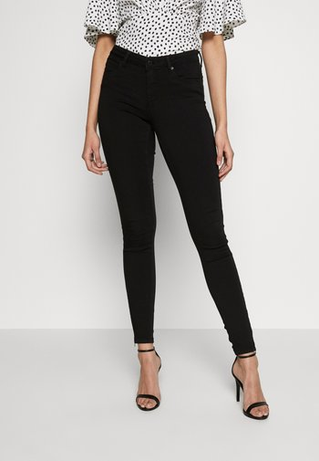 NMKIMMY ANKLE ZIP - Jeans Skinny Fit - black
