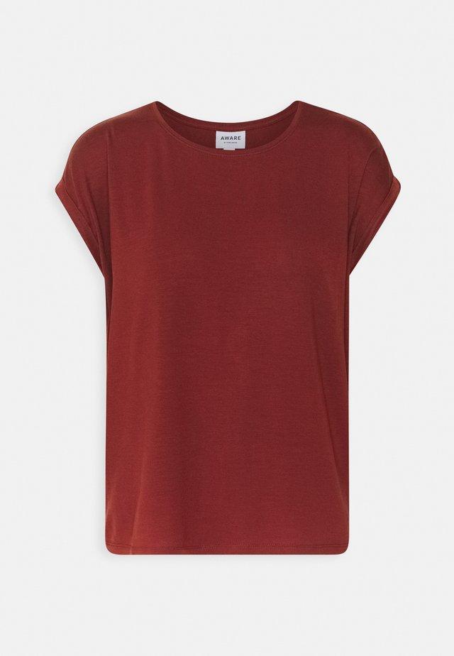 VMAVA PLAIN - Basic T-shirt - madder brown