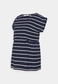 JoJo Maman Bébé - MATERNITY & NURSING DOUBLE LAYER - Print T-shirt - navy/white - 0