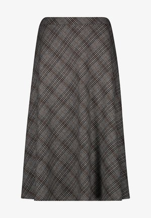A-line skirt - anthra grau haselnuss