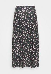 Anna Field - Maxi skirt - black/pink/red - 0