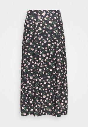 Maxi skirt - black/pink/red