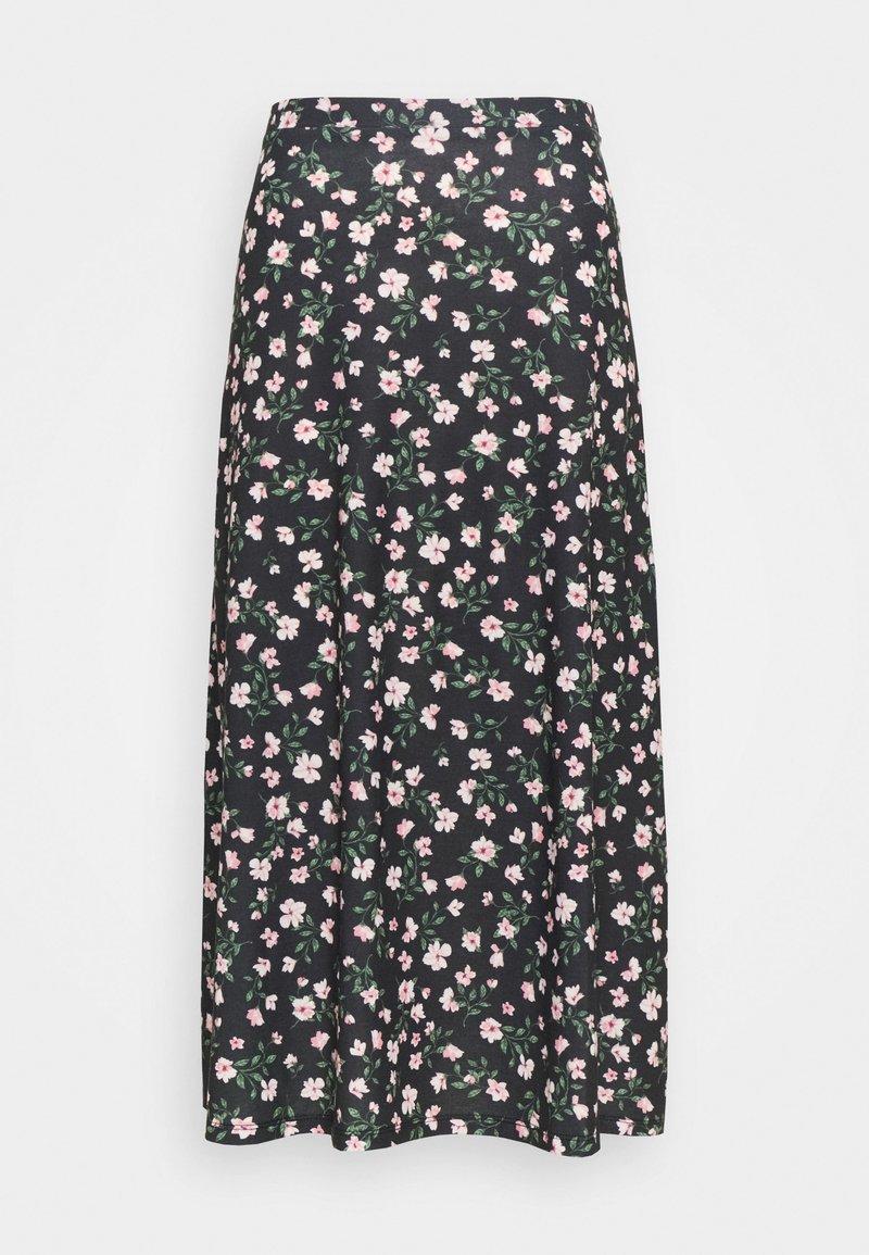 Anna Field - Maxi skirt - black/pink/red