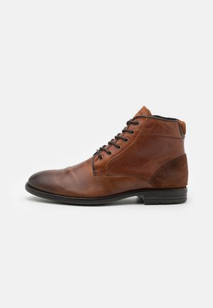 OLIELLE - Lace-up ankle boots - cognac