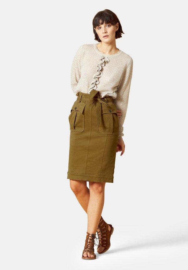 A-line skirt - militare